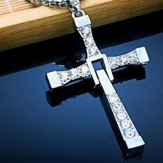Classic Men S Rosary Necklaces Pendants Cross Necklace Charms Furious Toretto Cross Women Necklace Men Jewelry เป็นต้นฉบับ