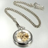 ราคา Classic Retro Vintage Steampunk Mechanical Round Pendant Pocket Watch Chain Gift Style 1 Intl ใหม่ล่าสุด
