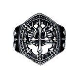 ส่วนลด สินค้า Classic Vintage Stainless Steel Mens Ring Hip Hop Gothic Rings Fashion Jewelry Size 10 Intl