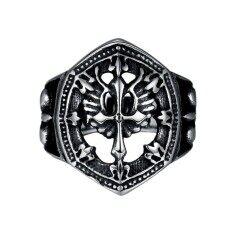 ราคา Classic Vintage Stainless Steel Mens Ring Hip Hop Gothic Rings Fashion Jewelry Size 10 Intl Unbranded Generic เป็นต้นฉบับ
