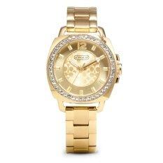ขาย Coach นาฬิกาข้อมือผู้หญิง รุ่นCoach 14501700 สแตนเลสสีทอง Coach เป็นต้นฉบับ