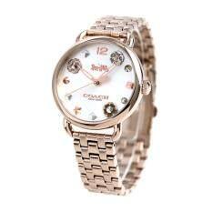 ทบทวน ที่สุด นาฬิกาข้อมือผู้หญิง Coach Delancey Stainless Steel Ladies Watch