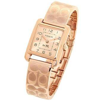 Coach Page Ladies Rose Gold Blush Dial Bangle Plated Watch 14502161
