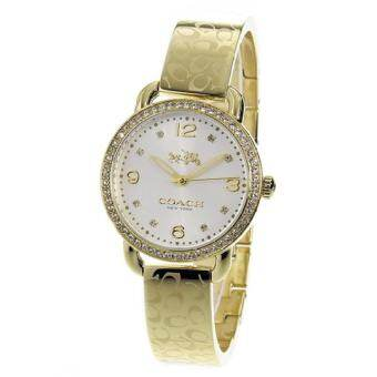COACH Women's Delancey 28mm Bangle Watch Silver/Gold Plated Watch 14502354