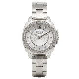 ทบทวน Coach Womens 14501699 Mini Boyfriend Silver Tone Bracelet Watch Coach