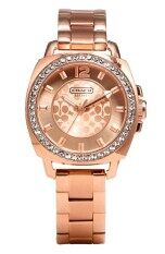 ราคา Coach Womens 14501701 Mini Boyfriend Rose Gold Tone Bracelet Watch เป็นต้นฉบับ Coach