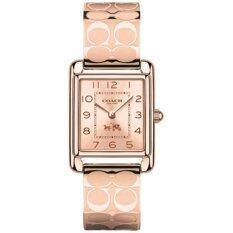 ซื้อ นาฬิกาข้อมือสุภาพสตรี Coach Women S Page Bangle Watch Rosegold Rosegold Plated Watch 14502161 ใหม่