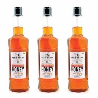 Cobie Brown น้ำผึ้ง ป่าธรรมชาติแท้ 100% เดือนห้า Classic One จากภาคเหนือ (1050 g. x 3 ขวด)
