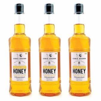 Cobie Brown น้ำผึ้ง ป่าธรรมชาติแท้ 100% เดือนห้า Moonlight จากภาคตะวันออกเฉียงเหนือ (1050 g. x 3 ขวด)