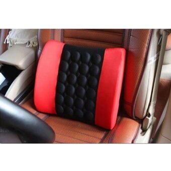Coco Multi purpose massage pillowWaist massagerเบาะนวดไฟฟ้ารถยนต์(Red/Black)