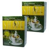 ราคา Coffee Shape คอฟฟี่เชฟ กาแฟผสมมะรุม พลัสมอลินก้า กาแฟลดน้ำหนัก เพื่อสุขภาพ หุ่นสวย สั่งได้ บรรจุ 12 ซอง 2 กล่อง ใหม่