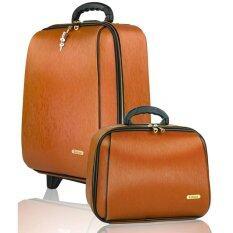 ซื้อ Colinna กระเป๋าเดินทาง เซ็ทคู่ 18 นิ้ว 14 นิ้ว รุ่น Classic Wood 86620 Gold Brown ใน Thailand