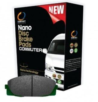 Compact NANO Brake ผ้าเบรค ดิสหน้า รถตู้ TOYOTA COMMUTER (ONLY680) 1คู่