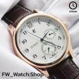 ราคา Conavin นาฬิกาข้อมือผู้ชาย ระบบ Quartz Analog 5 เข็ม เข็มเวลา เข็มกลางวัน กลางคืน และเข็มบอกวันที่ ตัวเรือนและหัวสายเคลือบทอง Pink Gold 3ไมครอน สายหนังแท้ กันน้ำ100 หน้าปัดขาวลาย3มิติ รุ่น Conp 111Pg ใน ไทย
