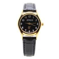 ราคา Conavin นาฬิกาข้อมือผู้หญิง เรือนทอง สายหนังแท้ ระบบ Quartz หน้าปัดคลาสสิค รุ่น Con Lg Conavin ไทย