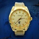 ทบทวน Conavinนาฬิกาข้อมือผู้ชายStainlessสีทองรุ่นCm 7013M