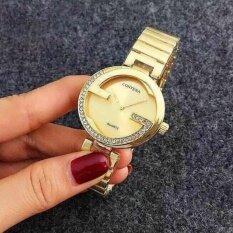 โปรโมชั่น Contena นาฬิกาข้อมือผู้หญิง รุ่น Wp8522 Gold แถมซองนาฬิกาสุดหรู Sevenlight ใหม่ล่าสุด