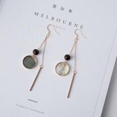 ราคา Coobonf Women Vintage Jewelry Charm Simple Ear Clips Elegant Long Eardrop Lovely Shell Tassels Earring Ear Clip Intl
