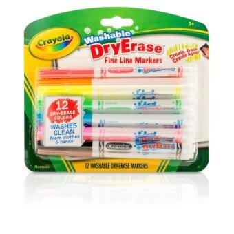 Crayola สีเมจิกเขียนไวท์บอร์ด 12 สี (ล้างออกได้)