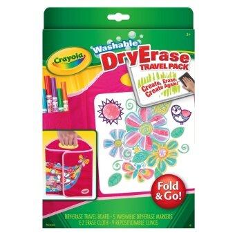 Crayola ชุดสีเมจิกเขียนไวท์บอร์ดลบออกได้ (พร้อมกระดานพกพา)