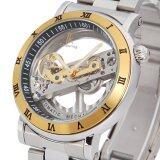 ขาย ซื้อ Creative Brand Fashion Ik Colouring Golden Hollow Sports Watch Waterproof Luxury Casual Men Full Steel Dress Mechanical Watch จีน