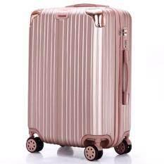 C Travel กระเป๋าเดินทางล้อลาก 4 ล้อ ขนาด 20 นิ้ว สีชมพู เป็นต้นฉบับ
