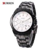 ซื้อ Curren 8009 Male Quartz Watch Luminous Pointer Decorative Sub Dial 30M Water Resistance Wristwatch Intl Curren ถูก