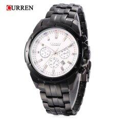 ขาย Curren 8009 Male Quartz Watch Luminous Pointer Decorative Sub Dial 30M Water Resistance Wristwatch Intl จีน