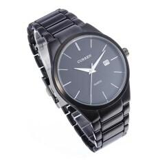 ราคา Curren 8106คนรอบ ๆ ผลึกนาฬิกาข้อมือสเตนเลส สีดำ Curren เป็นต้นฉบับ