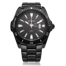 ราคา Curren 8110 Men Black Stainless Steel Wrist Watch จีน