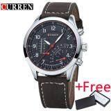 ส่วนลด Curren 8152 Men S Quartz Watch นาฬิกาข้อมือ Es Top Brand Luxury Men Wristwatch นาฬิกาข้อมือ Es Men Military Leather Sports Watch นาฬิกาข้อมือ