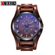 ราคา Curren 8225 Original Brand Men S Sports Round Analog Wrist Watch Faux Leather Band Date Watch For Men Intl Curren