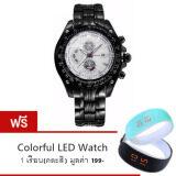โปรโมชั่น Curren นาฬิกาข้อมือสุภาพบุรุษ สายสแตนเลส Black White รุ่น C8083 แถมฟรี Colorful Led Watch 1 เรือน คละสี มูลค่า 199 ถูก