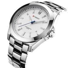 ซื้อ Curren นาฬิกาข้อมือสุภาพบุรุษ สายสแตนเลส รุ่น C8109 Silver White ใหม่