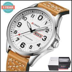 ราคา Curren นาฬิกาข้อมือผู้ชาย แท้100 แสดงตัวเลขชัดเจน แสดงวันที่และวัน สายหนัง รุ่น C8269 พร้อมกล่องนาฬิกา Curren Curren ออนไลน์
