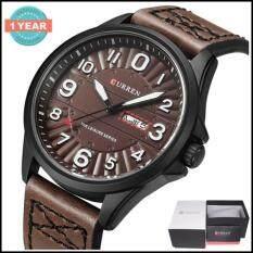 ราคา Curren นาฬิกาข้อมือผู้ชาย แท้100 แสดงตัวเลขชัดเจน แสดงวันที่และวัน สายหนัง รุ่น C8269 พร้อมกล่องนาฬิกา Curren สมุทรปราการ