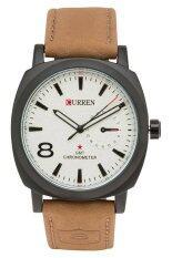 ซื้อ Curren นาฬิกาข้อมือสุภาพบุรุษ สายหนัง รุ่น Cr 8139 Br Wh สีขาว Curren
