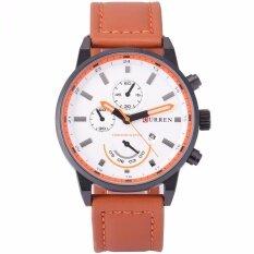 ราคา Curren Fashion Men S Quartz Wrist Watch Dress Leather Brown Band Sports Date Analog Cur119 นาฬิกาข้อมือชาย แฟชั่น สปอร์ต เท่ Intl ที่สุด