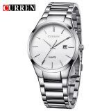 ราคา Curren Full Stainless Steel Men Watch 8106 Silver White Curren ใหม่