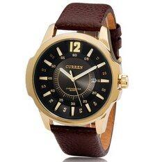 โปรโมชั่น Curren นาฬิกาข้อมือสุภาพบุรุษ Geniue Lether รุ่น C8123 Golden Black Curren ใหม่ล่าสุด