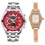 Curren Kimio นาฬิกาข้อมือสุภาพบุรุษ สายสแตนเลส Red รุ่น C8023 คู่ Kimio นาฬิกาข้อมือผู้หญิง สายสแตนเลส Rose Gold รุ่น Kw539 Combo Set สุดคุ้ม เป็นต้นฉบับ