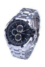 ราคา Curren ผู้ชายนาฬิกาสเตนเลส 8023 รัดสีดำ เงิน Curren เป็นต้นฉบับ