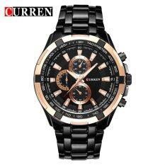 ซื้อ Curren Mens Watches Luxury Men Military Wrist Watches Stainless Steel Sports Waterproof Watch 8023 Intl ถูก ใน จีน