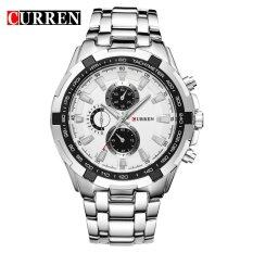 Curren Mens Watches Luxury Men Military Wrist Watches Stainless Steel Sports Waterproof Watch 8023 Intl ใน จีน