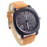 Curren นาฬิกาแฟชั่น สายหนัง ยี่ห้อ Curren รุ่น 8139 หน้าปัดสีดำ ใน ปทุมธานี