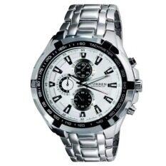 ความคิดเห็น Curren Stainless Steel Band Sport Analog Quartz Wrist Watch White