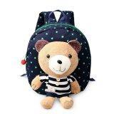 ราคา Cute Baby Backpack Bag Canvas Shoulder Bag Deep Blue ใหม่ล่าสุด