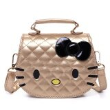 ทบทวน Cute Girls Mini Kity Shoulder Bag Fashion Strap Crossbody Handbag Gold Intl