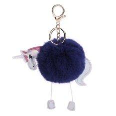 ขาย น่ารักยูนิคอร์นรูปม้าเล็กๆขนลูกพวงกุญแจกุญแจแหวนกุญแจตกแต่งสำหรับกระเป๋าถือกุญแจ นานาชาติ จีน ถูก