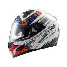 ขาย หมวกกันน็อค เรียล รุ่น Cyber Thunder Air สีขาว น้ำเงิน ผู้ค้าส่ง